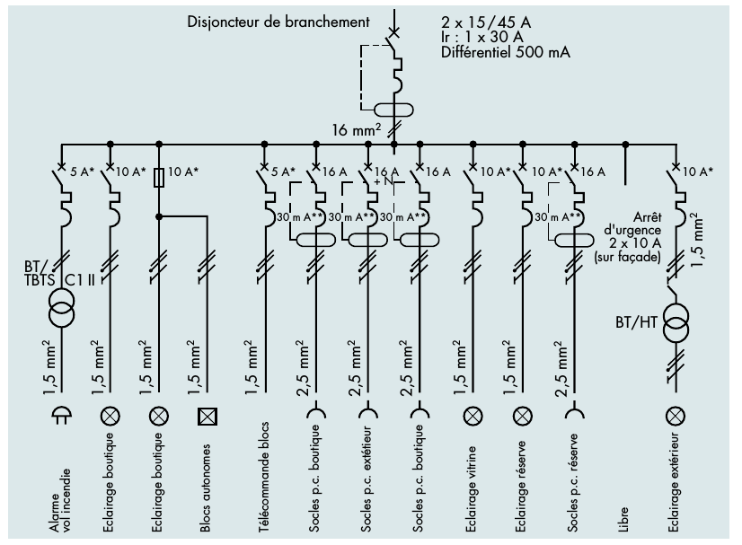 schema electrique disjoncteur differentiel